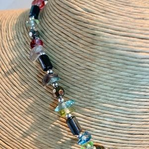 Murano Jewelry - Venetian Millefiori Murano Glass Stone Necklace